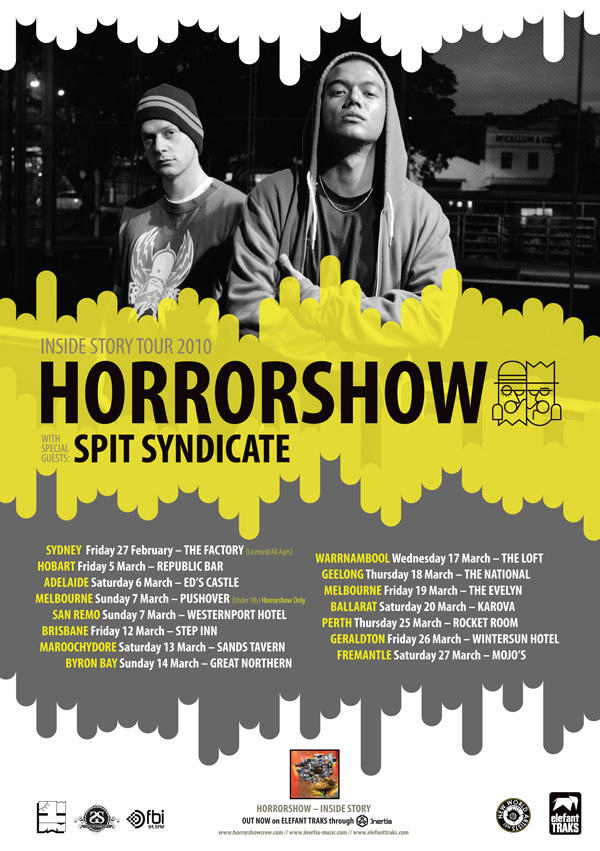 Horrorshow Inside Story Tour 2010