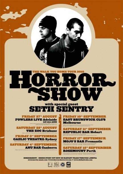 Horrorshow - Walk You Home National Tour w/ Seth Sentry